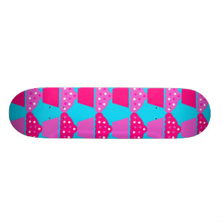 Fun and Sassy Hot Pink and Purple Cupcakes Skate Boards