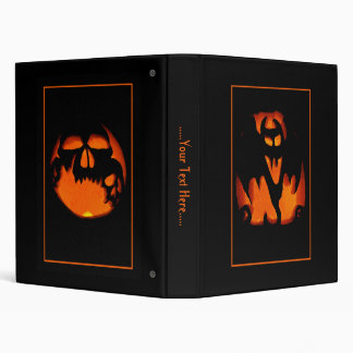 Fun and Scary Happy Halloween Pumpkins Binder