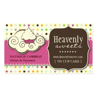 Fun and Whimsical Cupcake | Bakery Business Card