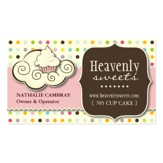 Fun and Whimsical Cupcake Bakery Business Card