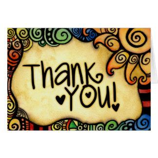 Fun and Whimsical Thank You Card