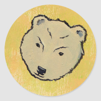 Fun angry stern bear art unique - My Bears & Me Classic Round Sticker
