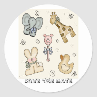Fun! Animal Friends Stickers Save the Date!