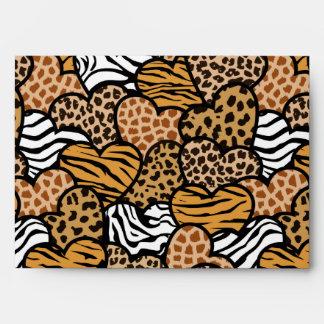 Fun animal pattern hearts envelope