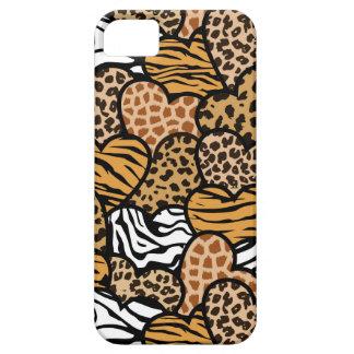 Fun animal pattern hearts iPhone SE/5/5s case