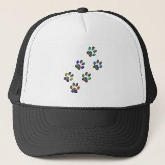 Fun animal paw prints. trucker hat