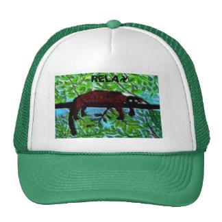Fun Animal Red Lemur Art Trucker Hat