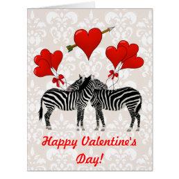 Fun animal Valentines Card
