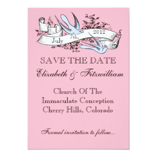 Fun Antique Tattoo Style Save The Date Cards