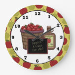 Fun Apple Fruit Kitchen wall clock