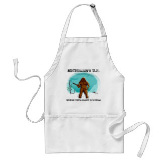 Fun Apron w/ YETI ~ BIGFOOT ~ SASQUATCH design!