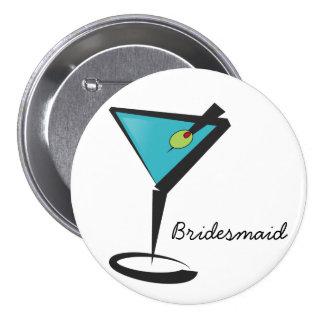 Fun Aqua Martini Pinback Buttons