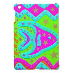 Fun Aquatic Fish Stars Colorful Kids Doodle Cover For The iPad Mini