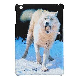 Fun Arctic Wolf  Playing in the Snow Wildlife Art Case For The iPad Mini