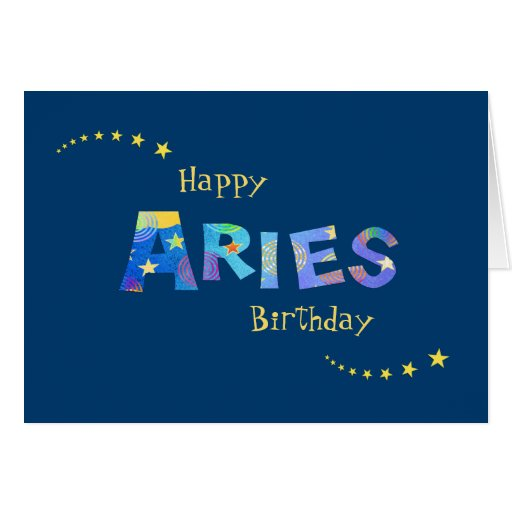 Fun ARIES Zodiac Sign Birthday Greeting Card