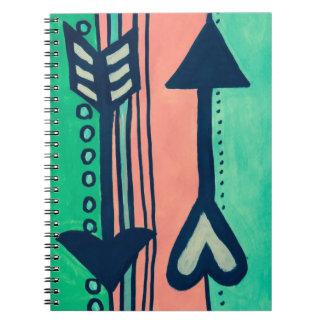 Fun Arrow Love Journal Spiral Note Book