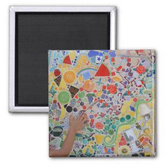 Fun ARt 2 Inch Square Magnet