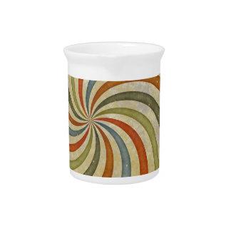 Fun Art Deco Colorful Swirl Beverage Pitchers
