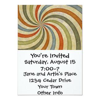 Fun Art Deco Colorful Swirl Card