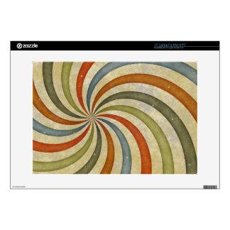 "Fun Art Deco Colorful Swirl Decal For 15"" Laptop"