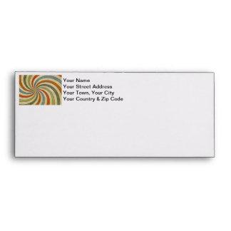 Fun Art Deco Colorful Swirl Envelopes