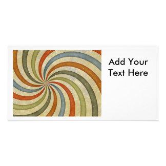 Fun Art Deco Colorful Swirl Photo Card