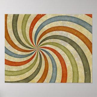 Fun Art Deco Colorful Swirl Print
