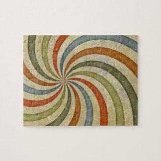 Fun Art Deco Colorful Swirl Puzzles