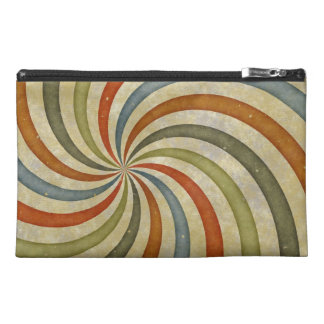 Fun Art Deco Colorful Swirl Travel Accessory Bag