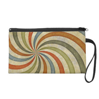 Fun Art Deco Colorful Swirl Wristlet Clutches