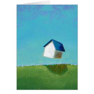 Fun art flying house Meet Me in St. Louis painting Card