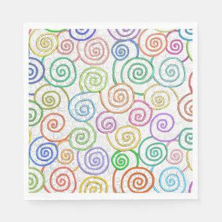 Fun art spirals curly pattern original painting standard luncheon napkin