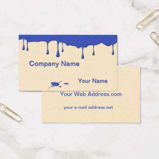 Fun Artist Paint Drips Business Card