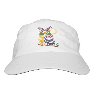 Fun Artistic Owl and Moon Abstract Art Hat
