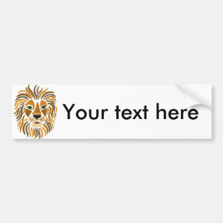 Fun Artsy Lion Abstract Art Bumper Sticker