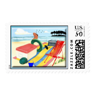 Fun at the Beach Postage
