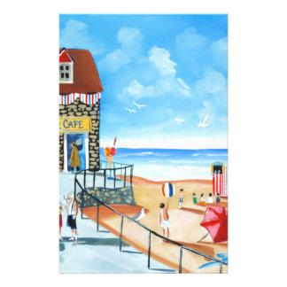 Fun at the seaside British seaside panting Stationery