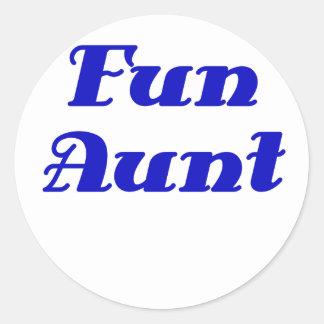 Fun Aunt Classic Round Sticker