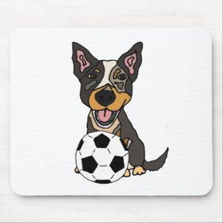 Fun Australian Cattle Dog Soccer Artwork Mouse Pad