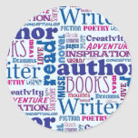 Fun Authors Pattern Classic Round Sticker
