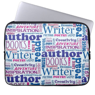 Fun Authors Pattern Laptop Computer Sleeves
