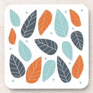 Fun Autumn Leaves Beverage Coaster