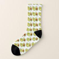 Fun Avocado Pattern Socks