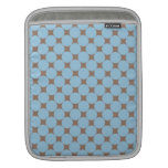 Fun Baby Blue Tan Polka Dot Pattern Gifts Sleeves For iPads