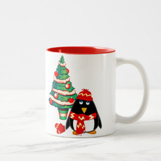 Fun Baby Penguin. Christmas Gift Mug