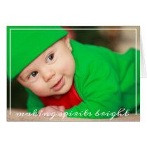 Fun Baby Photo First Christmas Card
