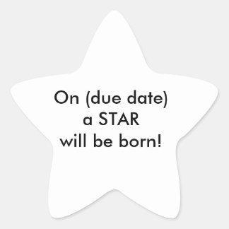 Fun baby shower decor! star sticker