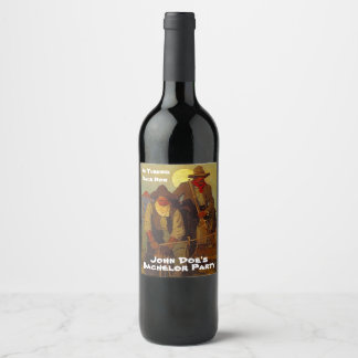 Fun Bachelor Party Wine Label No turning back now