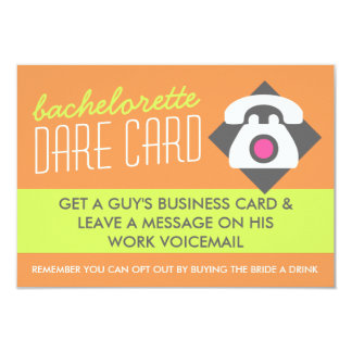 Fun Bachelorette DARE game card - get his number