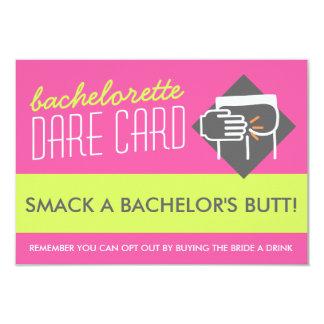 Fun Bachelorette DARE game card - smack a butt